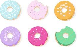 Donuts pattern Vector dessert flavored illustrations pattern Stock Photo