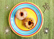 Donuts with peanut butter and chocolate Stock Photography