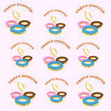 Donuts on pink background Royalty Free Stock Photos