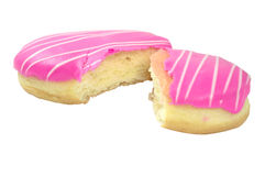 Donuts with pink icing Royalty Free Stock Images