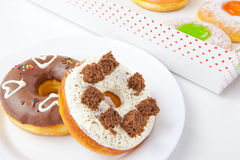 Donuts on plate Royalty Free Stock Images