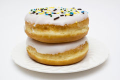 Donuts on plate Royalty Free Stock Photos