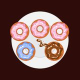donuts on plate vector image royalty free illustration