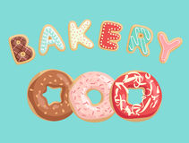 Donuts Poster. stock illustration
