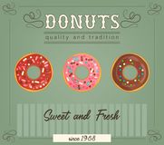 Donuts poster Royalty Free Stock Photography