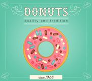 Donuts poster Stock Image