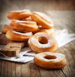 Donuts with powder sugar Stock Photography