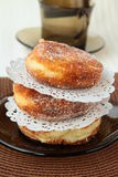 Donuts with powdered sugar Royalty Free Stock Photos