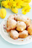 Donuts with powdered sugar Stock Image