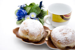Donuts with powdered sugar Royalty Free Stock Photo