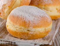 Donuts with powdered sugar. Stock Images