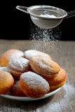 Donuts with powdered sugar Stock Photos