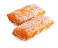 donuts pudrujący cukier dwa Obrazy Stock