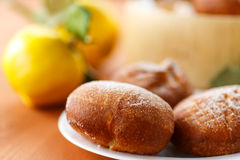 Donuts with quince Stock Photo