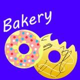 Donuts różni smaki ilustracji