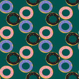 Donuts seamless pattern Royalty Free Stock Photography