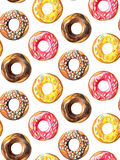 Donuts seamless pattern. Stock Photos