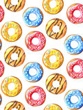 Donuts seamless pattern. Royalty Free Stock Image