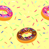 Donuts seamless pattern Stock Images