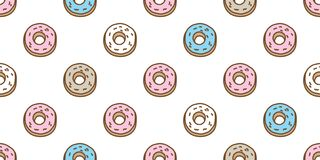 Donuts Seamless Pattern vector cake isolated background wallpaper doodle. Donuts Seamless Pattern vector cake isolated background cartoon illustration wallpaper vector illustration