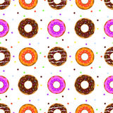 Donuts seamless pattern stock photos