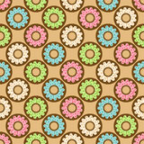 Donuts seamless pattern Stock Photo
