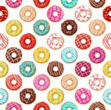 Donuts seamless pattern. Stock Image