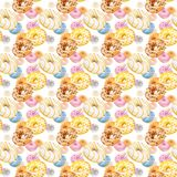 Donuts seamless texture or pattern stock images