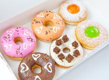 Donuts set Stock Photos