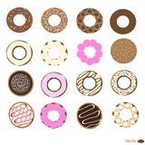 Donuts set Stock Image