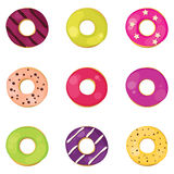 Donuts set Royalty Free Stock Image