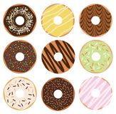 Donuts Set. Vector illustration. Donuts set isolated on white background Stock Images