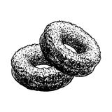 Donuts Sketch Cakes Pastry Food Hand Drawn Isolated Sketch. Vintage Vector Illustration. Donuts Sketch Hand Drawn Cakes Retro Pastry Food Sketch Isolated On Stock Photos