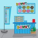 Donuts small shop. Stock Photos