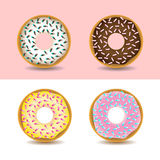 Donuts with sprinkles. Royalty Free Stock Images