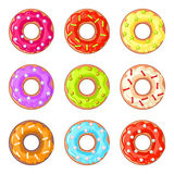 Donuts with sprinkles Royalty Free Stock Image