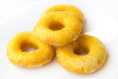 Donuts with sugar. On white background Royalty Free Stock Photos