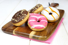Donuts, sweet doughnut colored, glazed Stock Photography