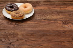 Donuts. Sweet donuts always good to improve the humor Royalty Free Stock Image