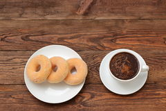 Donuts. Sweet donuts always good to improve the humor Stock Photography