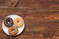 Donuts. Sweet donuts always good to improve the humor Royalty Free Stock Photo