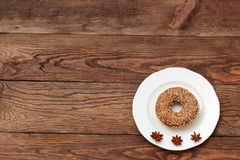 Donuts. Sweet donuts always good to improve the humor Royalty Free Stock Photography