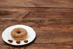 Donuts. Sweet donuts always good to improve the humor Stock Image