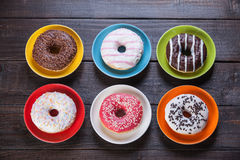 Donuts on table. Royalty Free Stock Images