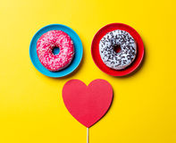 Donuts and toy royalty free stock images