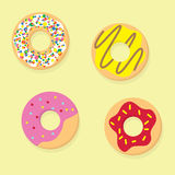 Donuts vector illustration. Donut icon food Royalty Free Stock Image