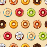 Donuts vector seamless pattern Royalty Free Stock Photography