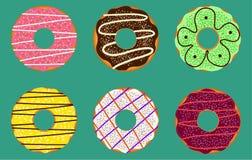 Donuts vector set vector illustration