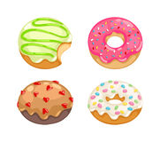Donuts vector set. Stock Photography