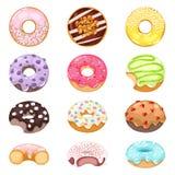 Donuts vector set. Royalty Free Stock Photos